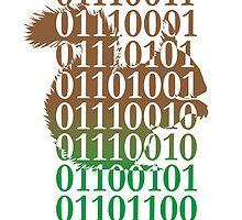 squirrel binary code nature animal design by Veera Pfaffli