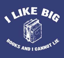I Like Big Books - Baby Got Books - Vintage by colorhouse