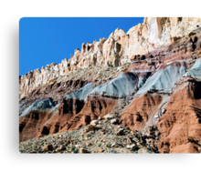 The Waterpocket Fold, Capitol Reef NP, Utah, USA Canvas Print