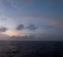 Sunset panorama, South China Sea by namrog477