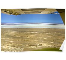Flying over Lake Eyre, Outback South Australia 502 Poster