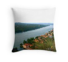 Stretches On - View from Mount Bonnell - Austin, TX Throw Pillow