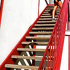 Stairway - Hudson's Meat Market - South Congress, Austin, TX by MalinRawl