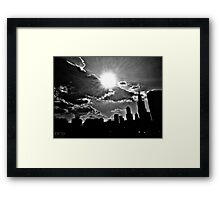 I Love the Windy City Framed Print