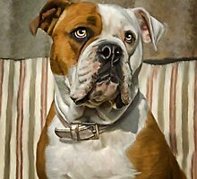 American Bulldog by ellenspaintings