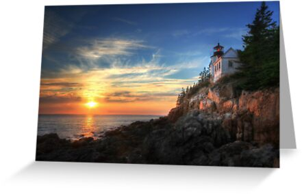 Sunset Glow - Bass Harbor by Lori Deiter