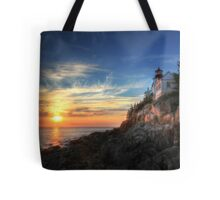 Sunset Glow - Bass Harbor Tote Bag