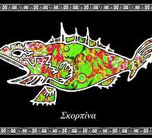 Scorpaena scrofa -  Red Scorpionfish by joancaronil