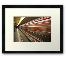 Prague Metro Framed Print