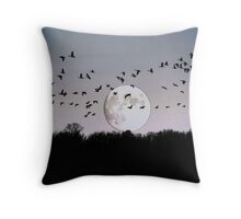 Guided by the Moon Throw Pillow