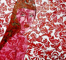"Pink Lady - Oils on Fabric Art by Belinda ""BillyLee"" NYE (Printmaker)"