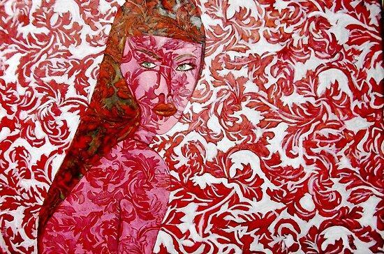 """Pink Lady - Oils on Fabric Art by Belinda """"BillyLee"""" NYE (Printmaker)"""