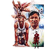 Jesse Owens and Jim Thorpe Photographic Print