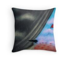 Looking on the bright side Throw Pillow