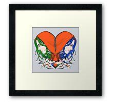 Clementine's Heart Framed Print