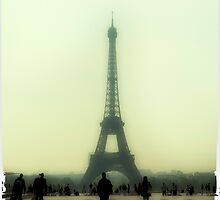 Eiffel Tower. Misty morning. by Yelena Rozov