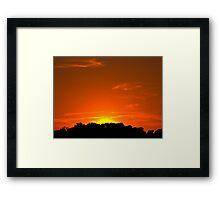 Townsend Sunset Framed Print