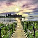 Boardwalk into Sunset HDR by Myron Watamaniuk