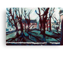 Bare Trees on the Lawn Canvas Print