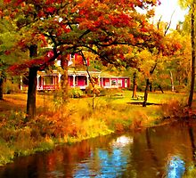 House on Pine River,Wisconsin U.S.A. by JohnDSmith