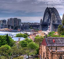 Old & New - The Rocks, Sydney Harbour & The Coat Hanger - (2nd Cut) The HDR Experience by Philip Johnson