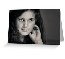 The poetry that fills her heart shows in her eyes. Greeting Card