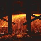 Steel Wool Light Play by Elaine Teague