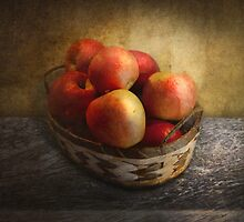 Food - Apples - Apples in a basket  by Mike  Savad