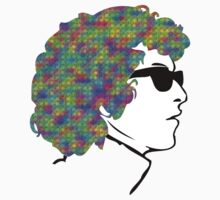 Bob Dylan Psychedelic T-Shirt by retrorebirth