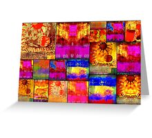 Golden SUN Quilt Greeting Card