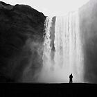 Beneath Skogafoss, Iceland by Tim Edmonds