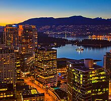 Canada. Vancouver, BC. Downtown. Night. by vadim19