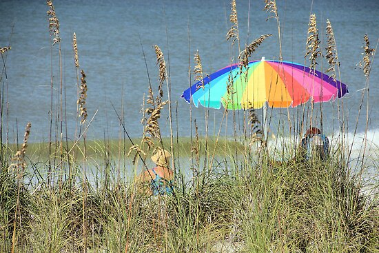 Colorful Beach Umbrella by Rosalie Scanlon