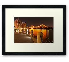 Story Bridge, Brisbane at night Framed Print