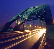 Tyne Bridge Lights by Keith Johnson