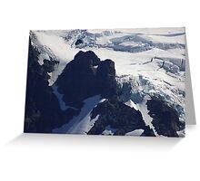 where glacier meets mountain Greeting Card