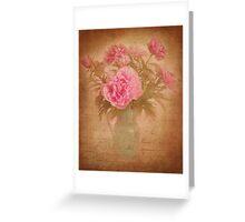 Nostalgic pink peonees Greeting Card