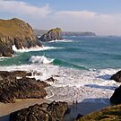 Surfers at Kynance Cove by Alex Cassels