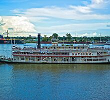 Natchez Riverboat @ New Orleans by Bonnie T.  Barry