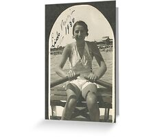 LA ZIA ANGELA AL LIDO DI VENEZIA - ITALIA  1934- 3000 VISUALIZZAZ.MAGGIO 2013  -  &  FEATURED RB EXPLORE 10 OTTOBRE 2011 ---. Greeting Card