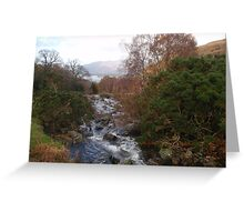 Lake District's sunny autumn colours   Greeting Card
