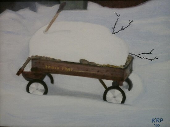 Red Wagon by Ken Pratt