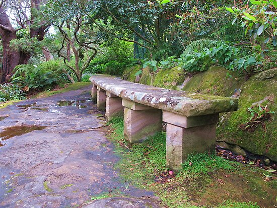Sandstone Bench by Michael John