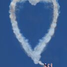 Heart shape smoke and plane by Garry Gay