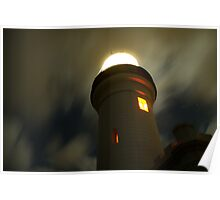 Byron Bay, Light House at night Poster