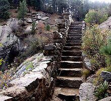 Stairway to Helen Hunt Falls by Margot Ardourel