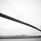 Lions Gate Bridge - Black and White by VictoriaCanning