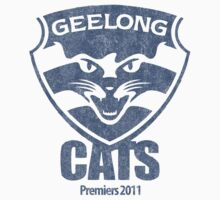 Geelong Cats, AFL Premiers 2011 (Washed Worn Look) Version 2 Kids Clothes