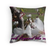 Look beyond the now Throw Pillow