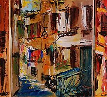 Rovinj - Croatia / Triptichon / original oil painting by andrassyp